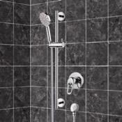 Shower Faucet Chrome Slidebar Shower Set With Multi Function Hand Shower Remer SR043
