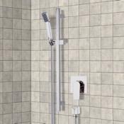 Shower Faucet Chrome Slidebar Shower Set With Hand Shower Remer SR044