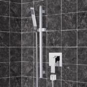 Shower Faucet Chrome Slidebar Shower Set With Hand Shower Remer SR045