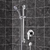 Shower Faucet Chrome Slidebar Shower Set With Hand Shower Remer SR049