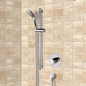 Shower Faucet Chrome Thermostatic Slidebar Shower Set With Multi Function Hand Shower Remer SR050
