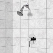 Shower Faucet Chrome Shower Faucet Set with Adjustable Shower Head Remer SS1058