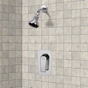 Shower Faucet Chrome Shower Faucet Set with Adjustable Shower Head Remer SS1060