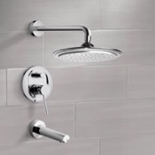 Tub and Shower Faucet Chrome Tub and Shower Faucet Sets with 9