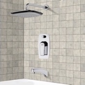 Tub and Shower Faucet Chrome Tub and Shower Faucet Sets with 10
