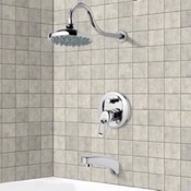 Tub and Shower Faucet Chrome Tub and Shower Faucet Sets with 6