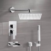 Tub and Shower Faucet Chrome Tub and Shower System with 12