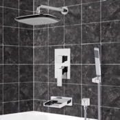 Tub and Shower Faucet Chrome Tub and Shower System with 10