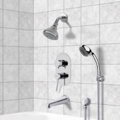 Tub and Shower Faucet Chrome Tub and Shower System with 3