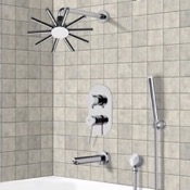 Tub and Shower Faucet Tub and Shower System with 10
