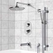Tub and Shower Faucet Tub and Shower System with 8