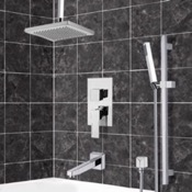 Tub and Shower Faucet Tub and Shower System with Ceiling 9.5