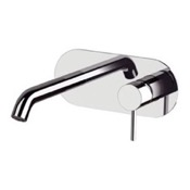 Bathroom Faucet Chrome Round Wall Mount Bathroom Sink Faucet Remer X15