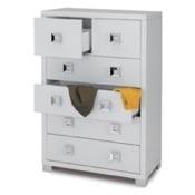 Cabinet Modern Glossy White 6 Drawer Cabinet Sarmog 572