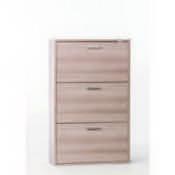 Shoe Rack Clear Elm Shoe Rack with 3 Double-Depth Folding Doors Sarmog A763-Clear Elm