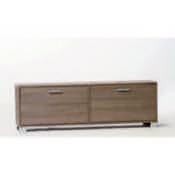 Shoe Rack Gray Oak Shoe Rack with 2 Double-Depth Folding Doors Sarmog A787-Gray Oak