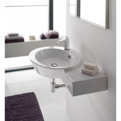Bathroom Sink Ceramic Wall Mounted or Vessel Bathroom Sink with Right Counter Space Scarabeo 2011