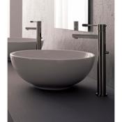 Bathroom Sink Round White Ceramic Vessel Sink Scarabeo 8009