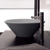 Bathroom Sink Round White Ceramic Vessel Sink Scarabeo 8010