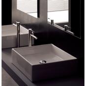 Bathroom Sink Square White Ceramic Vessel Sink Scarabeo 8031