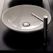 Bathroom Sink Round White Ceramic Vessel Sink Scarabeo 8044