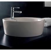 Bathroom Sink Round White Ceramic Drop In Sink Scarabeo 8055/A/R
