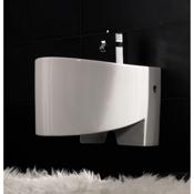 Bidet Round White Ceramic Wall Hung Bidet Scarabeo 8209