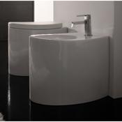 Toilet Round White Ceramic Floor Toilet 8210 Scarabeo 8210