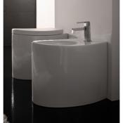 Bidet Round White Ceramic Floor Bidet Scarabeo 8211