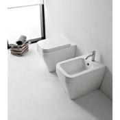 Toilet Modern White Ceramic Toilet Scarabeo 8303