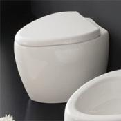 Toilet Round Floor Standing Ceramic Toilet Scarabeo 8606
