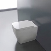 Toilet Round White Ceramic Floor Toilet Scarabeo 8309