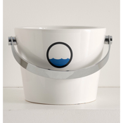 Bathroom Sink Porthole Style Bucket Bathroom Sink in Ceramic Scarabeo 8803-K