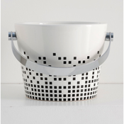 Bathroom Sink Decorative Ceramic Bucket Bathroom Sink Scarabeo 8801-Z