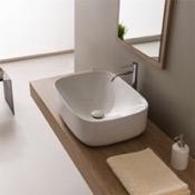 Bathroom Sink Round White Ceramic Vessel Bathroom Sink Scarabeo 5501