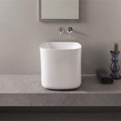 Bathroom Sink Round White Ceramic Vessel Bathroom Sink Scarabeo 5503