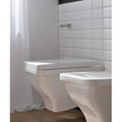 Toilet Round White Ceramic Wall Mounted Toilet Scarabeo 4006