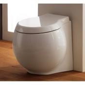 Toilet Modern Round White Ceramic Floor Toilet Scarabeo 8402