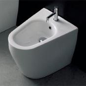 Bidet Round White Ceramic Floor Bidet Scarabeo 8049/A