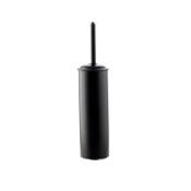 Toilet Brush Black Rounded Brass Toilet Brush Holder StilHaus ME039-23