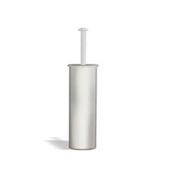 Toilet Brush Brushed Nickel Rounded Brass Toilet Brush Holder StilHaus ME039-36