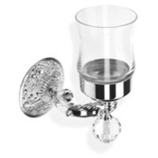Toothbrush Holder Crystal Glass Wall Mounted Toothbrush Holder/Tumbler StilHaus NT10V