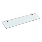 Bathroom Shelf Chrome Shelf with Glass StilHaus O04-08