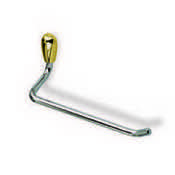 Toilet Paper Holder Toilet Paper Holder in Chrome and Gold StilHaus O11-02