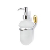 Soap Dispenser Wall Mounted Soap Dispenser in Chrome and Gold StilHaus O30-02