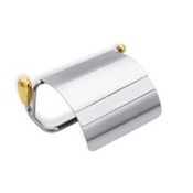 Toilet Paper Holder Toilet Paper Holder in Chrome and Gold StilHaus O11C-02