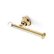 Toilet Paper Holder Gold Brass Toilet Roll Holder with Crystal StilHaus SL11-16
