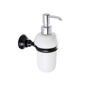 Soap Dispenser White Ceramic Soap Dispenser with Black Brass Mounting StilHaus SM30-23