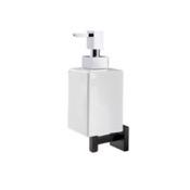 Soap Dispenser Black Wall Mounted Square White Ceramic Soap Dispenser StilHaus U30-23