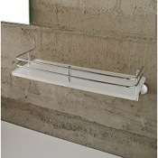 Bathroom Shelf Plexiglass 13 Inch Bath Bathroom Shelf With Railing Toscanaluce 1511